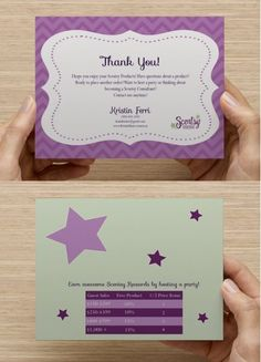 Business Postcard on Etsy, $12.00  I need to get some of these for my Scentsy business! :)