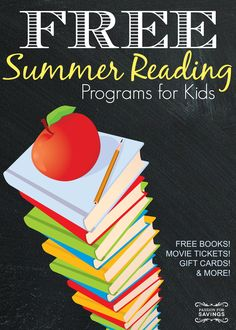 Check out the huge list of FREE Summer Reading Programs for Kids available this year.