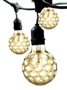 Bulbrite Crystal Collection Amber Marble Outdoor String, Crystal Amber at MYHABIT Globe String Lights, String Lights Outdoor, Outdoor Lighting, Light String, Exterior Lighting, Crystal Collection, Trends, Boutique, Home Furniture