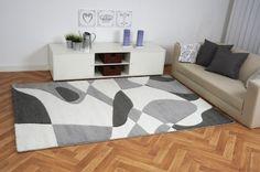 Moderner Teppich Style grau