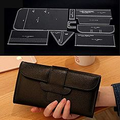 Details about Acrylic long wallet with zipper leather craft Pattern Stencil Template - Daily Good Pin Leather Gifts, Leather Craft, Leather Wallet Pattern, Purse Patterns, Leather Projects, Long Wallet, Leather Tooling, Handmade Bags, Leather Handbags