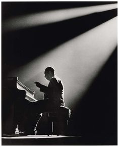 Duke Ellington on stage in Paris, 1958. Photo by Herman Leonard.
