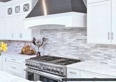 White Cabinet Marble Countertop Modern Subway Kitchen Backsplash Tile From  Backsplash.com