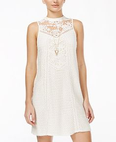 American Rag Crocheted Shift Dress, Only at Macy's - Juniors Dresses - Macy's
