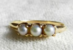 Antique Pearl Engagement Ring Victorian Pearl Engagement 14k