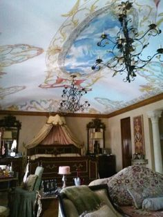 Italianate ceiling by Donzine Villa, Ceiling, Painting, Art, Art Background, Painting Art, Kunst, Paintings, Performing Arts