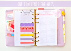 One Challenge for Week Personal size by KristineCheryl on Etsy