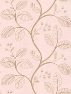 Celia Vine - Anna French Wallpapers - A pretty delicate leaf trail in metallic beidge with tiny white flowers on a soft pastel pink with a woven fabric effect. Please request sample for true colour match. Feature Wallpaper, Of Wallpaper, Beautiful Wallpaper, Anna French Wallpaper, Pastel Colors, Colours, Pastel Pink, Tiny White Flowers, French Collection