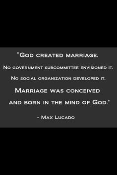 """The increasingly popular argument held today is that marriage """"predates Christianity/religion"""". """"So, God made a woman, our first mother, Eve, to be Adam's helper and bride. ... and officiated the first wedding between the first man and first woman."""" - Driscoll"""