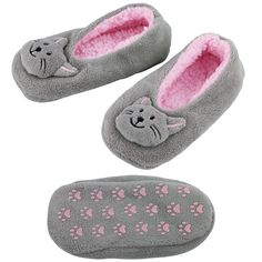 Fluffy Kitty Slippers at The Animal Rescue Site--on sale today for $8, click to feed shelter animals while you're there.