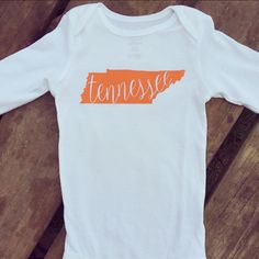 Tennessee Onesie by ACottonCollection on Etsy https://www.etsy.com/listing/274679270/tennessee-onesie