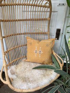 Rust throw Pillow, Yellow throw pillow for your house. - Lucky Collective #LuckyCollective