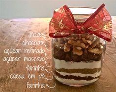 Presente de Natal DIY: Brownie no pote                                                                                                                                                                                 Mais