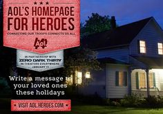 This holiday season, I am recognizing our military heroes with @AOL's Homepage for Heroes #aolheroes