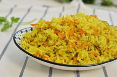 אורז עם שמיר וגזר