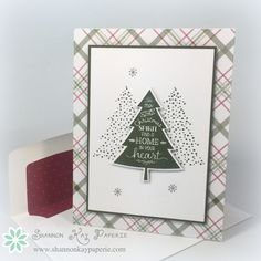 Peaceful Pines is a versatile new stamp set from Stampin' Up! that comes with coordinating dies as an added bonus. I have been having fun creating with it all week! The pattern paper is from the Merry Moments Designer Series. Christmas Mom, Stampin Up Christmas, Christmas Cards To Make, Xmas Cards, Holiday Cards, Christmas Trees, Christmas Greetings, Diy Cards, Stampin Up Weihnachten