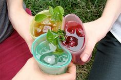 Edible cups made from jello