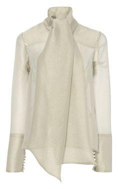 Long Sleeve Bow Blouse by ANNA SAMMARONE for Preorder on Moda Operandi