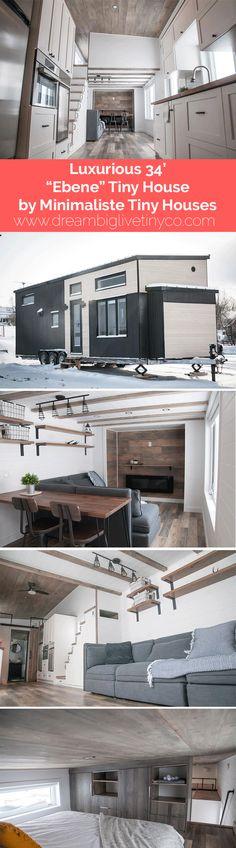 "Luxurious 34' ""Ebene"" Tiny House by Minimaliste Tiny Houses"