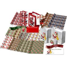 #Wrapping #paper it up with #SantaClaus by #sandyspider on #Polyvore on #Zazzle #giftbags #Christmasribbon