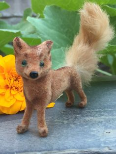 Miniature Fox - Wagner Handcrafts - Flocked Animal Creating small flocked animals for nativity scenes and village scenes has been a long