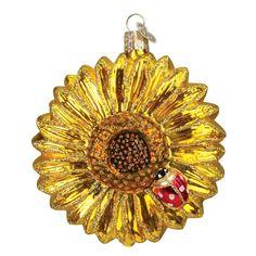 Old World Christmas Sunflower Glass Blown Ornament: Home & Kitchen