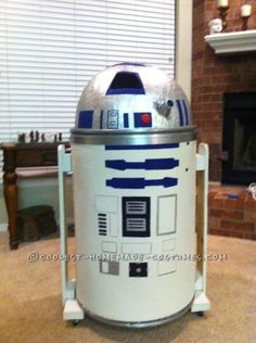 Coolest Homemade R2D2 Costume for Kids ... This website is the Pinterest of DIY Halloween Costumes