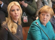Neben Merkel wurde Donald Trumps Tochter Ivanka platziert.