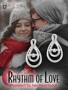 Silver Diamond Earings #blocherbling