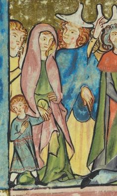 Rudolf von Ems, Weltchronik. Der Stricker, Karl der Grosse. Zürich · um 1300 VadSlg Ms. 302 Folio 54v