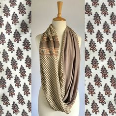 This beautiful patchwork snood is made in Cape Town from luxurious sari fabric and lined with a soft viscose lycra. Sari Fabric, Cape Town, Leather Backpack, Beige, Silk, Clothes For Women, Luxury, Florals, Scarves