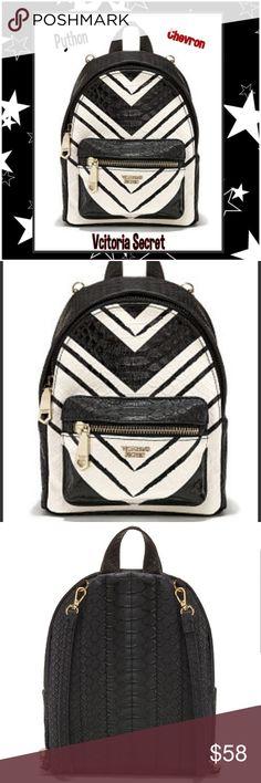 VS Wicked City Black & White Mini B-Pack💋PYTHON Gorgeous Black & White Python  Victorias Secret Wicked City Mini Backpack S/OUT Plus FREE GIFT  SAME DAY SHIPPING NIP Victoria's Secret Bags Mini Bags