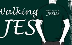 T-shirt ~ Walking with Jesus by Donna Keevers Driver My Images, Tote Bags, Walking, Throw Pillows, T Shirt, Stuff To Buy, Black, Design, Women