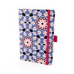 Herlitz Notebook Ivory Graphic – Blue Flower Motif, Lined (9 x 14)
