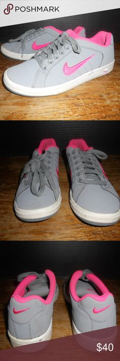 Nike Court Tradition II Tennis Shoes Women's 6.5 Nike Court Tradition II Tennis Shoes 635425-060 Gray/Pink Women's Size 6.5. Shoes are in excellent condition, look to have hardly been worn, minimal wear. Nike Shoes Athletic Shoes