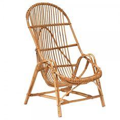 """Fauteuil en rotin années 50 """"Azur"""" #rotin #fauteuil #vintage"""