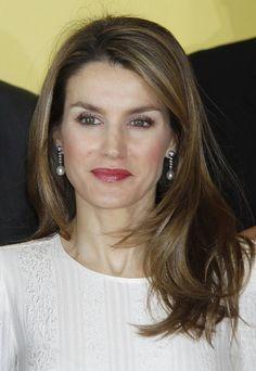Doña Letizia Ortiz con maquillaje muy natural