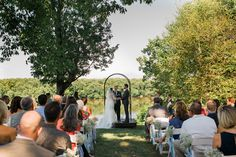 Ceremony overlooking the Potomac River