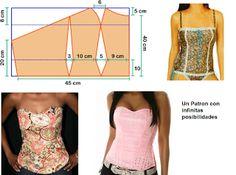 Curso de patrones base y moda: Corset para el verano