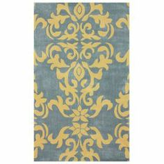 Add a pop of pattern to your master suite or dining room with this hand-tufted rug, showcasing a damask motif.   Product: RugConstruction Material: 100% PolyesterColor: GreyFeatures: Hand-tuftedDimensions: 5' x 8'Note: Please be aware that actual colors may vary from those shown on your screen. Accent rugs may also not show the entire pattern that the corresponding area rugs have.