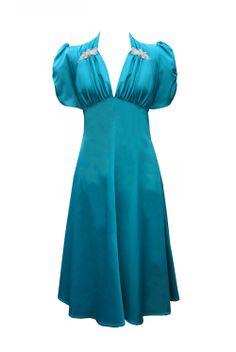 e62bff74876 Tara Starlet - amazing blue 40s Fashion