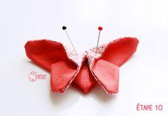 origami papillon tissu