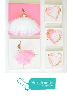 Baby Girl Bedroom Decor Set, Pink Wall Art for Nursery, Girl's Room Pink Decor, Ballerina Original Art from Shenasi Concept https://www.amazon.com/dp/B01HLP2KQI/ref=hnd_sw_r_pi_dp_-GjCxbF0KF8SQ #handmadeatamazon