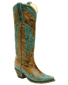 Vintage Tan/Turquoise Tall Top Eagle  @ Country Outfitters