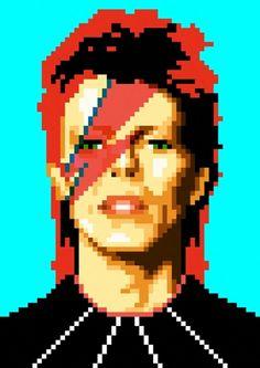 Unexpected Pixel Portraits of Pop Culture Figures