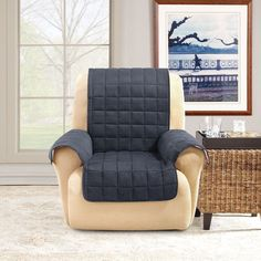 Sure Fit Ultimate Waterproof Quilted Recliner Furniture Protector : sheepskin recliner covers - islam-shia.org