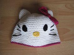 Hello Kitty Mütze häkeln #diy #crochet #hellokitty #hat