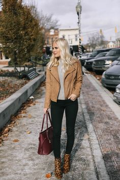 Suede Moto Jacket - Lemon Blonde