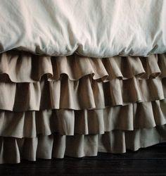 Ruffles Linen Bed Skirt Queen and King