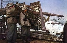 German 88mm Flak gun used to excellent effect against ground targets.